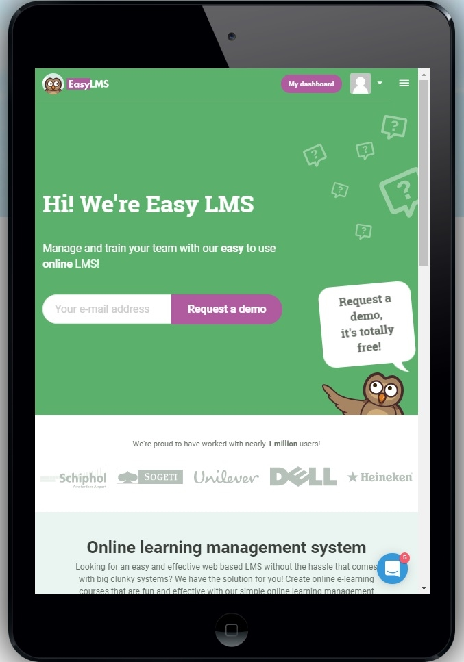 Easy LMS tablet