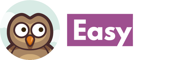 Easy LMS logo white text